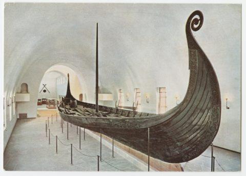 MMF 1525:989 Osebergi laev Oslo viikingimuuseumis